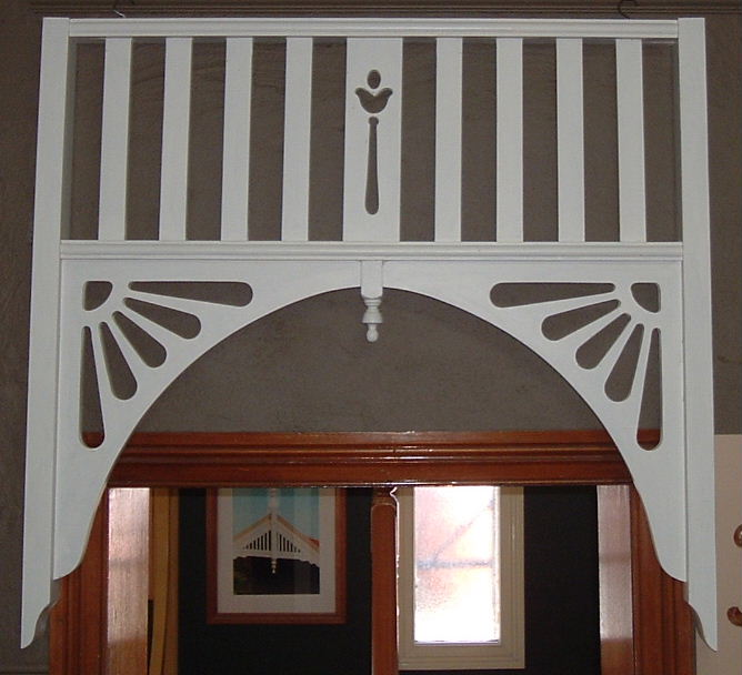 Fedwood timber balustrading handrails posts verandah for Decorative archway mouldings